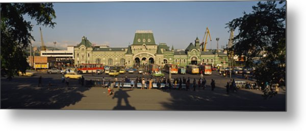 Facade Of A Railroad Station Metal Print