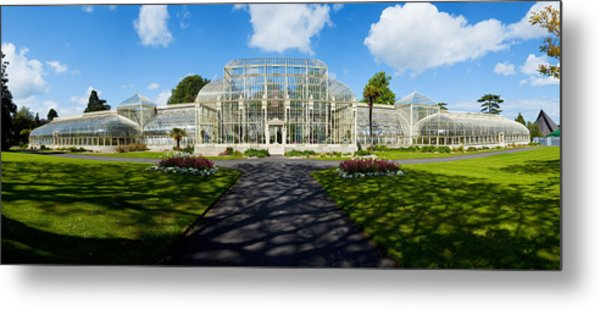 Facade Of Curvilinear Glass House Metal Print