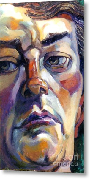Face Of A Man Metal Print