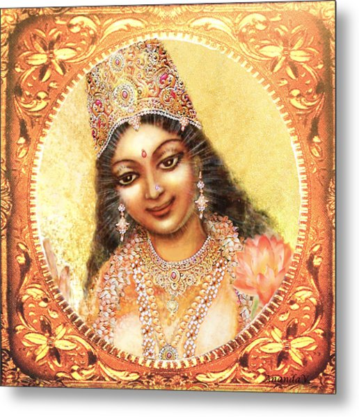 Face Of The Goddess - Lalitha Devi  Metal Print