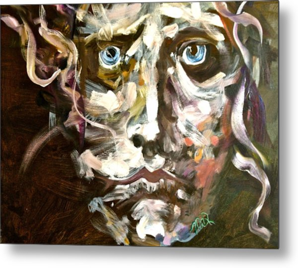 Face Series 3 Metal Print by Michelle Dommer