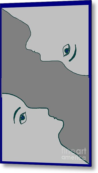 Face To Face Metal Print by Meenal C