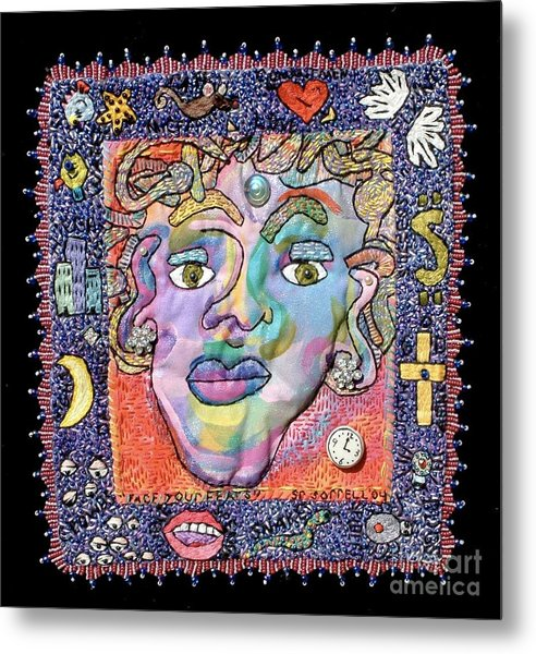 Face Your Fears Metal Print by Susan Sorrell