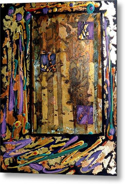 Faces In The Doorway Metal Print