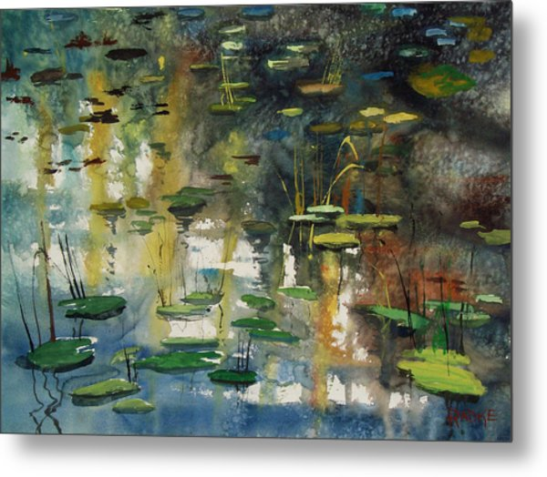 Faces In The Pond Metal Print