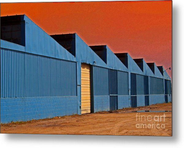 Factory Building Metal Print