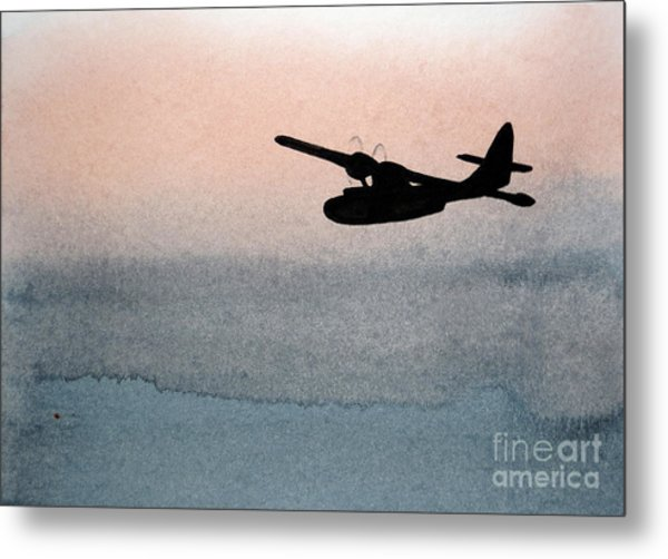 Fade Into Nothingness Pby Over Empty Sea Metal Print