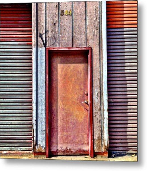 Faded Door Metal Print