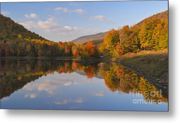Fading Light On Searsburg Reservoir Metal Print