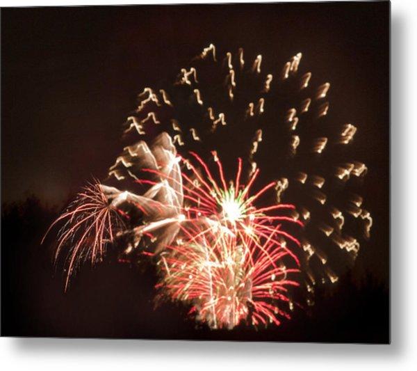 Faerie In The Fireworks Metal Print