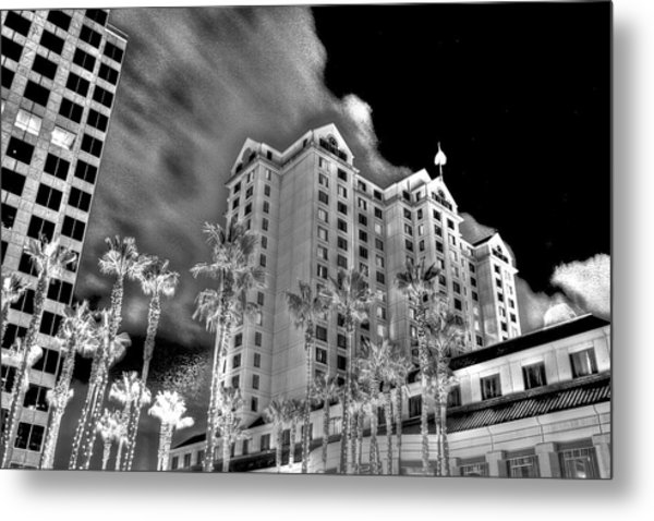Fairmont From Plaza De Cesar Chavez Metal Print