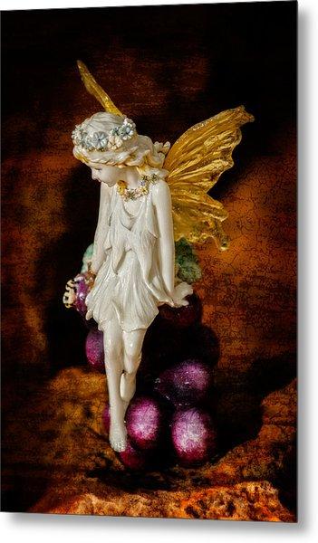 Fairy Of The Harvest Moon Metal Print