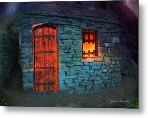 Fairy Tale Cabin Metal Print