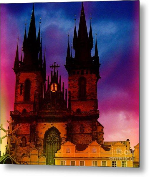 Fairy Tale Castle Prague Metal Print