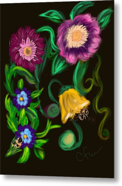 Fairy Tale Flowers Metal Print