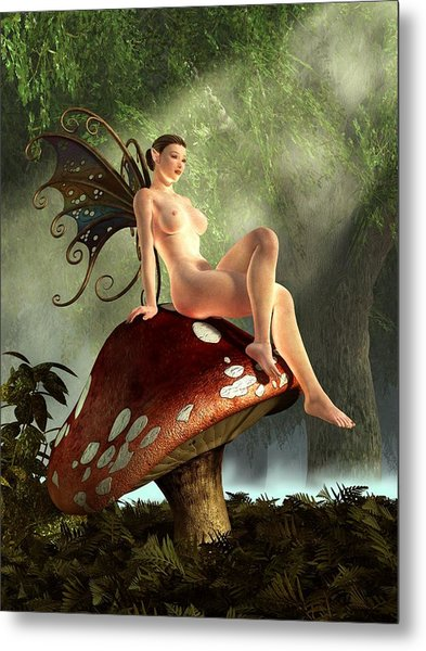 Fairy Toadstool Metal Print
