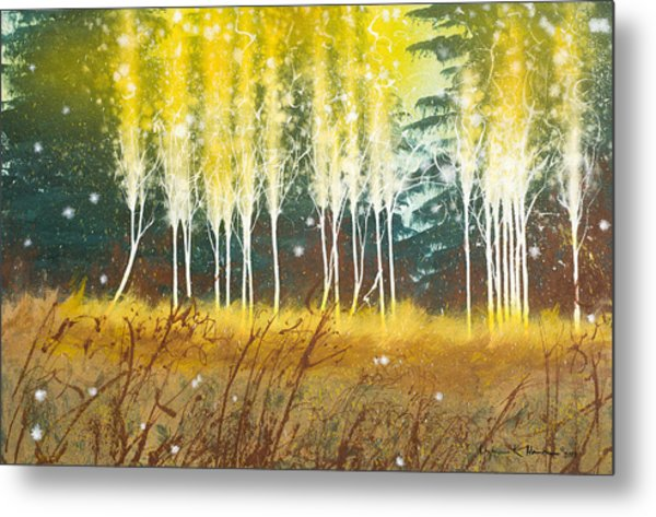 Fairy Trees Metal Print