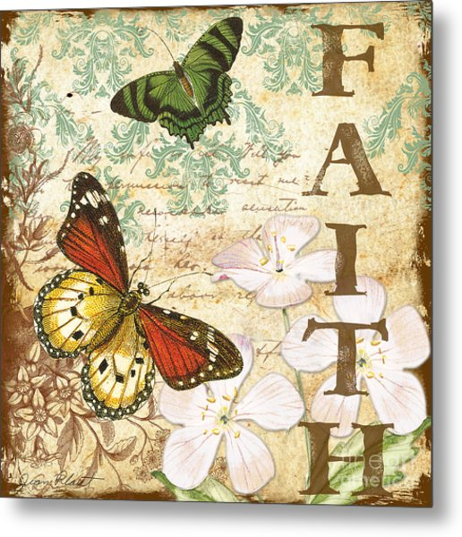 Faith And Butterflies Metal Print