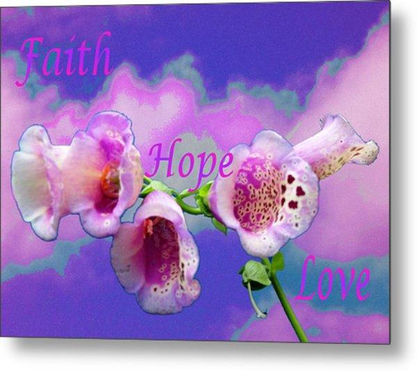 Faith-hope-love Metal Print