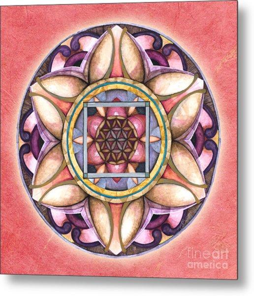 Faith Mandala Metal Print
