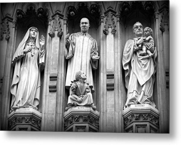 Faithful Witnesses -- Martin Luther King Jr Remembered With Bishop Romero And Duchess Elizabeth Metal Print