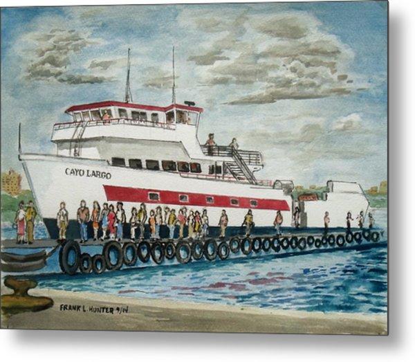 Fajardo Ferry From Vieques Puerto Rico Metal Print