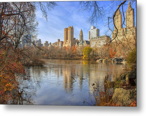 Fall Afternoon At Central Park Metal Print