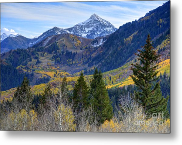 Fall At Cascade Peak And Sundance From Alpine Loop  Metal Print