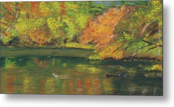 Fall At Dorrs Pond Metal Print
