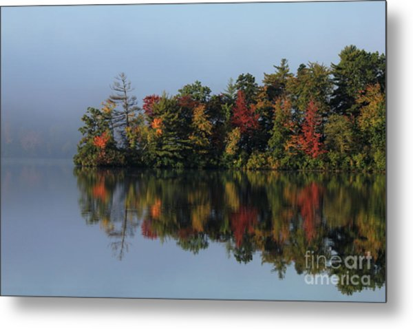 Fall At Heart Pond Metal Print