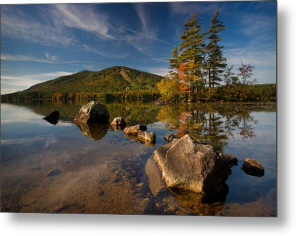 Fall At The Mountain Metal Print