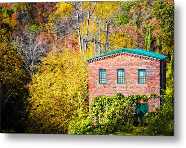 Fall At The Old Mill In Roswell Metal Print