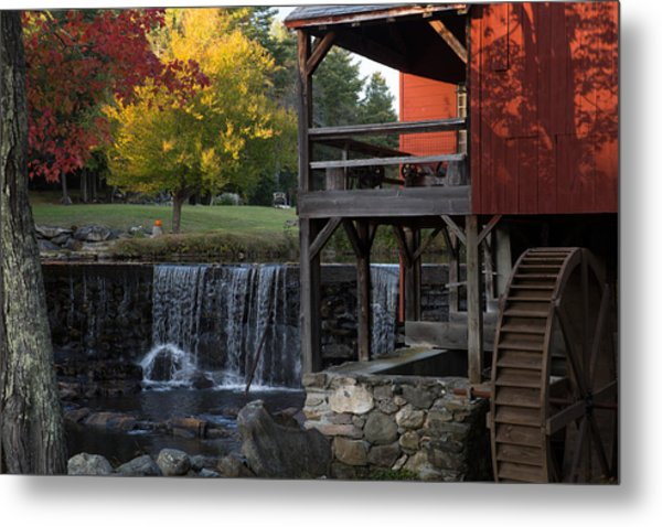 Fall At The Weston Mill Metal Print