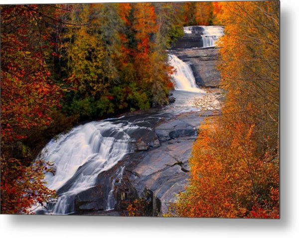 Fall At Triple Falls Metal Print