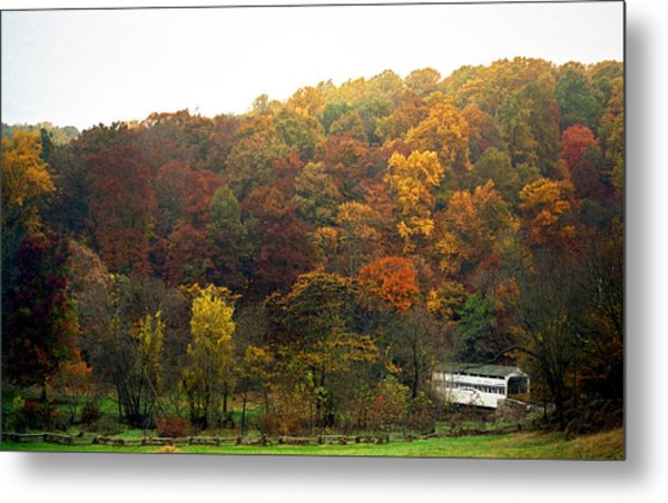 Fall At Valley Forge Metal Print