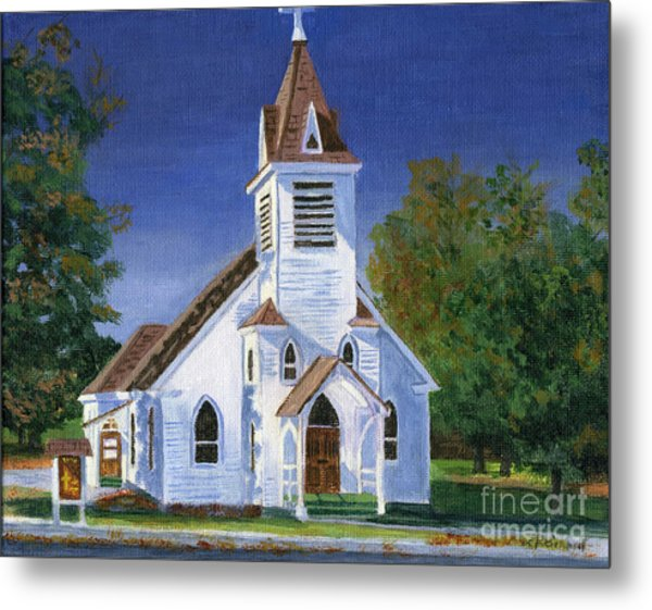 Fall Church Metal Print