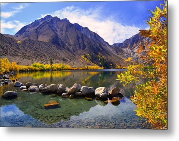 Fall Colors At Convict Lake  Metal Print