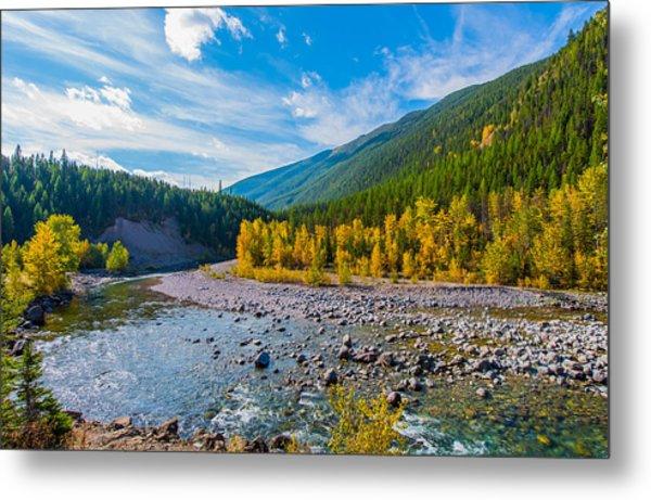 Fall Colors At Glacier National Park Metal Print by Rohit Nair