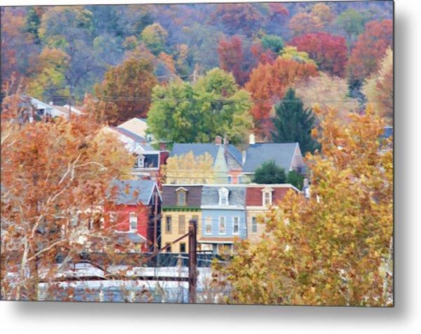 Fall Colors In Columbia Pennsylvania Metal Print