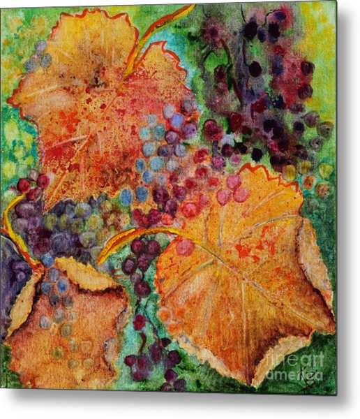 Metal Print featuring the painting Fall Colors by Karen Fleschler