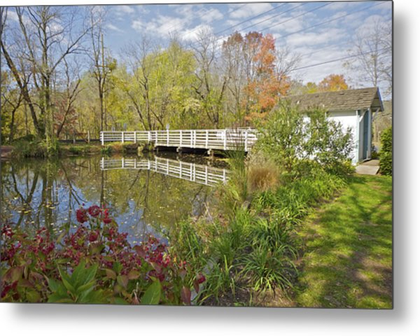 Fall Colors On The Canal Metal Print