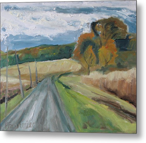 Fall Country Road  Metal Print by Francois Fournier