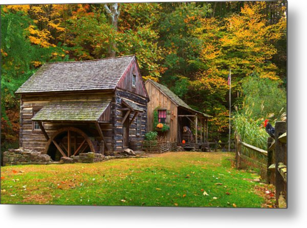 Fall Down On The Farm Metal Print