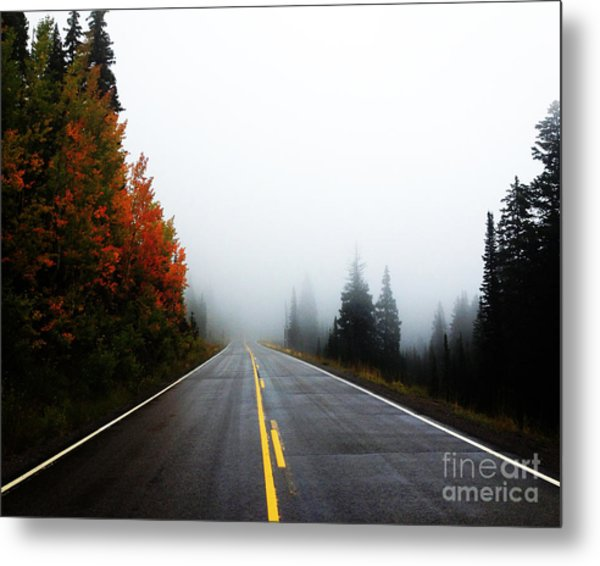Metal Print featuring the photograph Fall Drive 8x10 Crop by Kate Avery