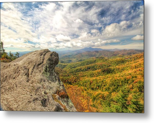 Fall From The Blowing Rock Metal Print