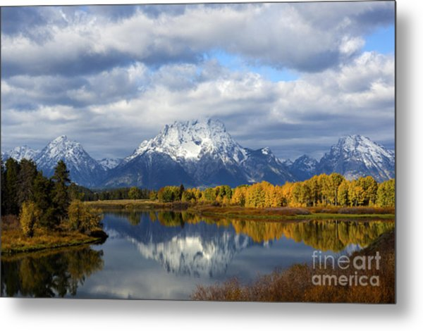 Fall Glory At The Oxbow Metal Print
