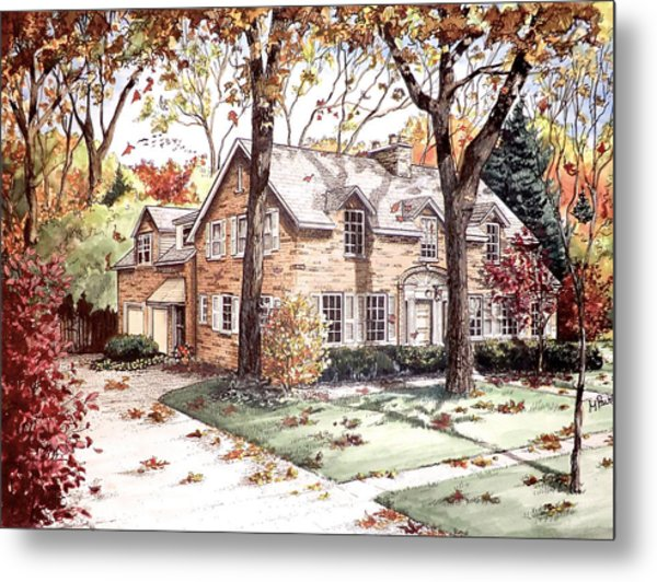 Fall Home Portriat Metal Print