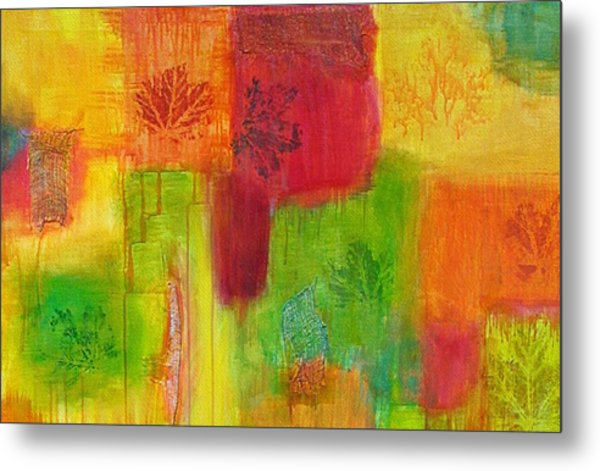 Metal Print featuring the painting Fall Impressions by Angelique Bowman