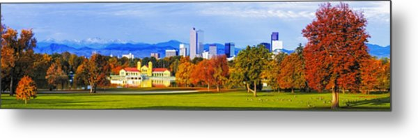 Fall In Denver Colorado Metal Print
