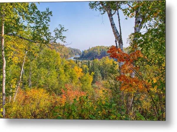 Fall In Gooseberry State Park Metal Print